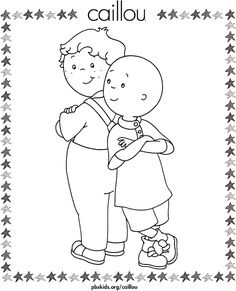 Caillou Activities for kids. Printable puzzles jigsaw to cut out. Coloring pages 16 Online Coloring Pages, Cartoon Coloring Pages, Coloring Pages To Print, Coloring For Kids, Printable Coloring Pages, Coloring Pages For Kids, Coloring Books, Mickey Mouse, Friend Pictures
