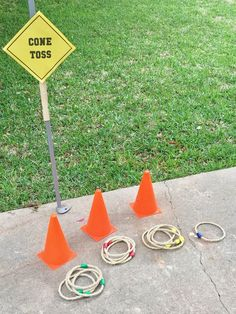 Birthday Party Ideas Cone toss kid's activity game for a construction-themed birthday party. See more photos, décor and DIY project details from this party at .The Idea The Idea may refer to: Construction Birthday Parties, Cars Birthday Parties, Birthday Party Decorations, 3rd Birthday, Party Favors, Construction Party Games, Birthday Games, Birthday Ideas, Car Themed Birthday Party