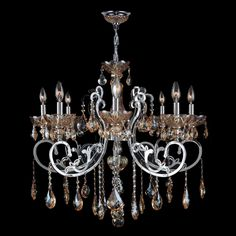 Orange Acrylic Icicle Chandelier In The Manner Of Kalmar Kalmar - Orange chandelier crystals