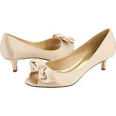 Champagne Peep Toe Kitten Heels For My Bridesmaids Wedding Party