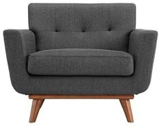 Vickie Chair, Grey contemporary-armchairs-and-accent-chairs