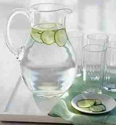 cucumber-water and other recipes for infused water detox natural healthy benifits
