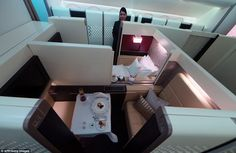 Room service: For first class passengers who are looking for a little more space, the new ...