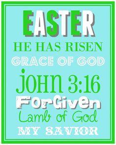Christ-Centered Easter Basket: { Easter Subway Art }