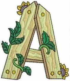 Typography - Gardener Alphabet - Letter A