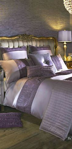 Love the colors in this bedroom - Christina Khandan - Irvine, California - www.IrvineHomeBlog.com #LuxuryBeddingKylieMinogue