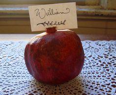 Place Card...DIY, fresh, fall and budget friendly www.happilywedding.com