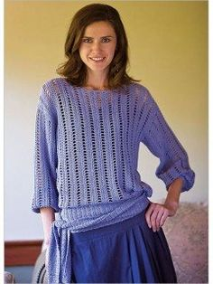 I would make this crochet lace sweater without the tie at the waist.
