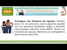Perder Peso Rápido: Los 8 Mejores Consejos Para Perder Peso - WHATCH THE VIDEO HERE:  - http://www.how-lose-weight-fast.co/videos/perder-peso-rapido-los-8-mejores-consejos-para-perder-peso/ -
