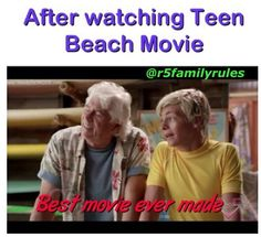 I love teen beach movie! But not just the best movie yet. It Movie Cast, 2 Movie, Movie Memes, Movie Quotes, Funny Quotes, Teen Beach 2, Nickelodeon Shows, Disney Movies, Funny Disney