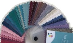 45 beautiful laminated fabric colour swatches for Soft Summer Large 5.5 cm x 4 cm swatch size allows for easy colour matching Each colour is named and numbered