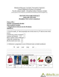fisa de evaluare initiala citire- scriere-comunicare | monalisasmile | 14.03.2014 Literatura
