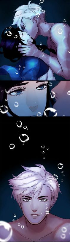 This looks a little like Marinette and Adrien, only his eyes are not green. It's from Siren's Lament, it's an awesome webtoon