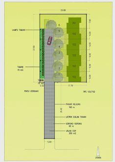 Dengan luas lahan yang kurang dari 1000 m2 (hanya 978 m2), kami mendisain town house sebanyak 6 unit dengan lingkungan yang tenang dan nyam... Ciri, Site Plans, Townhouse, Bar Chart, Floor Plans, House Design, How To Plan, Terraced House, Bar Graphs