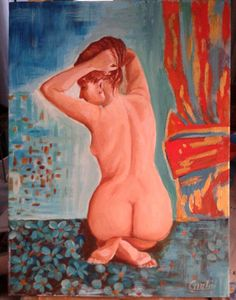 olio su tela 30x40 Nudo di donna