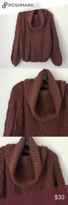 """DARK ROSE MAUVE SOFT CHUNKY KNIT SWEATER SHIRT TOP Looking for the PERFECT Autumn sweater? You've found it! 