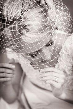 Bridal Birdcage Veil Wedding Veil Ivory