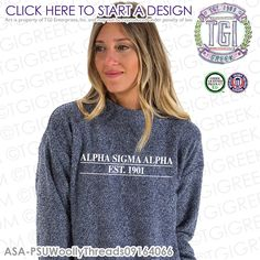 Alpha Sigma Alpha |  Woolythreads | Sorority Outerwear | Greek Pullover | Sisterhood | PR Sweatshirt  | Greek PR | TGI Greek | Greek Apparel | Custom Apparel | Sorority Tee Shirts| Sorority Tanks | Sorority T-shirts | Custom Outerwear