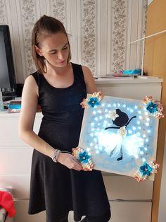 Für Babys - Kinderzimme Ballerina Led 40x40cm geschenkideen - ein Designerstück von atelier-house-decor bei DaWanda #rabatt  #dawanda #ballerina #led