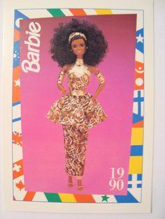 """Barbie Trading Card 1990 DOTW """"Nigerian Barbie"""" Nigeria   eBay"""