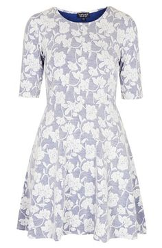 floral jacquard dress / topshop
