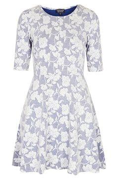 floral jacquard dress / topshop