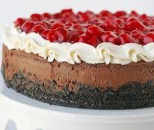 Un cheesecake façon forêt noire