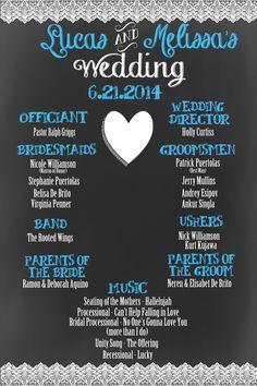 Custom lace wedding program