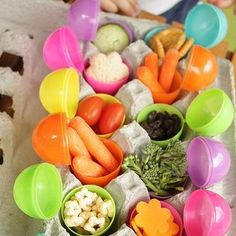 Awesome idea for what to put in Easter eggs for babies!