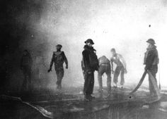 Battle of Midway June Firefighters at work on board the aircraft carrier USS Yorktown after the ship was hit by three Japanese bombs shortly after noon on 4 June x World History, World War Ii, Uss Yorktown, War Of The Pacific, Volunteer Services, Old Images, United States Navy, Aircraft Carrier, The Washington Post