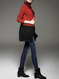 Knitting Wool-cotton Sweater Dress