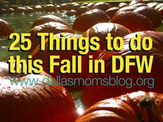 25 Family-Friendly Fall Activities in DFW | Dallas Moms Blog