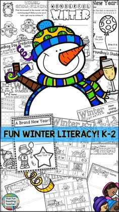 Fun Winter Literacy K-2 $