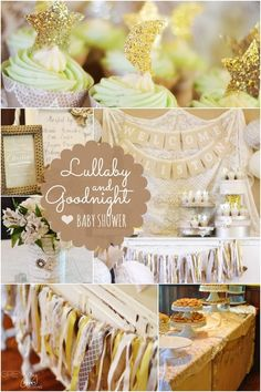 A Romantic Lullaby and Goodnight Boy Baby Shower - Spaceships and Laser Beams