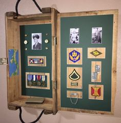Ammunition box / Shadow Box Buck Silhouette, Ammo Boxes, Crate Ideas, Wood Crates, Shadow Box, Repurposed, Military, Frame, Home Decor