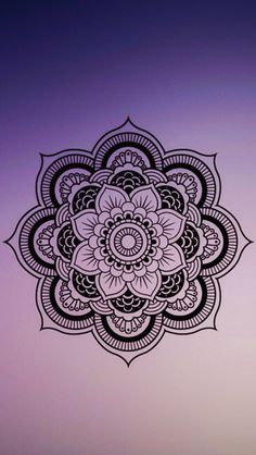 Purple gradient mandala wallpaper.