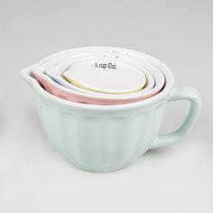 Retro Pastel Mixing Bowl Blue Large