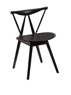 Fine Mod Fronter Dining Chair, Black