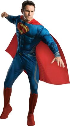 Men 52762: Man Of Steel - Superman Muscle Adult Costume -> BUY IT NOW ONLY: $44.99 on eBay!