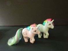 My Little Pony Vintage G1 Moonstone & Windy Lot (Rainbow Unicorn Ponies) [31a] #Hasbro