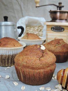 muffin banana e fiocchi d'avena, un dolce gluten free, senza grassi e zuccheri