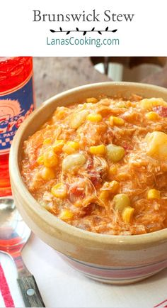 Brunswick Stew is an iconic southern barbecue side dish combining meat and a variety of vegetables. Sweet and smoky with loads of flavor! Barbecue Sides, Barbecue Side Dishes, Southern Side Dishes, Southern Recipes, Brunswick Stew, Thyme Recipes, Barbecue Restaurant, Chicken And Dumplings, Molecular Gastronomy