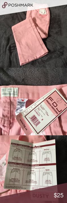 Pink French Dressing (size 8) Jeans Pink French Dressing (size 8) jeans.  Dusty -easy fit, mid-rise, flare. Stretch. Supports Breast Cancer awareness as noted on tag. French Dressing Jeans Flare & Wide Leg