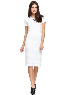 Stylish office looks for summer time:Loose knitwear dress