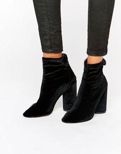 Public Desire Lia Velvet Heeled Ankle Boots on ShopStyle.