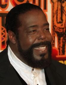 BARRY WHITE:  Birth name:Barry Eugene Carter Born:September 12, 1944 Galveston, Texas, United States Died:July 4, 2003 (aged 58) Los Angeles, California, United States GenresSoul, disco, funk, R&B OccupationsSinger-songwriter, record producer, arranger, musician InstrumentsPiano, keyboards, vocals, drums, recorder Years active:1960–2003