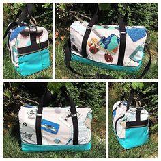 @atelier_sable_noir sur Instagram: Ancienne cousette: sac de sport #sacotinboston de @patrons_sacotin en bachette de chez @mondialtissus et toile luggage de…