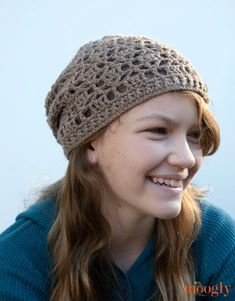 The Fallen Leaves Slouch Hat is the perfect one skein hat pattern for apple picking and pumpkin patches and all things Autumn.