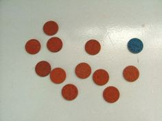 WWII OPA RED POINT RATION TOKENS 8 RARE MM RED POINTS 1 HC 1 XC 1 BLUE TX         SOLD 25.