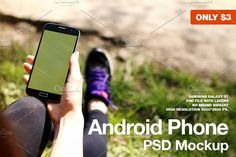 Android Phone Sport PSD Mockup by Start Mockups on @creativemarket